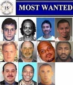 Current 15 Most Wanted Fugitives